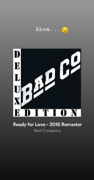 Ready For Love - Bad Company